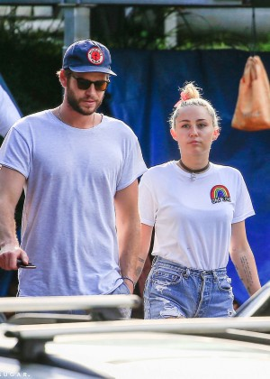 Miley Cyrus in Jeans Shorts -26