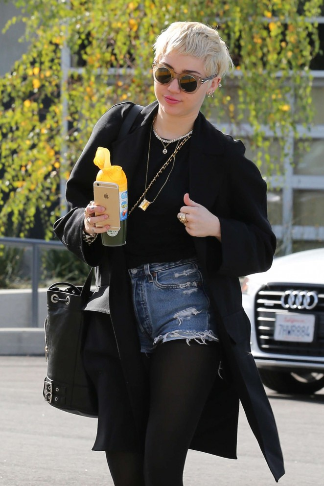 Miley Cyrus in Shorts Out in Studio City