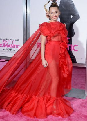 Miley Cyrus - 'Isn't It Romantic' Premiere in Los Angeles