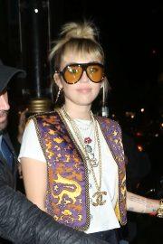 Miley Cyrus - Leaving Gymkhana Restaurant in London