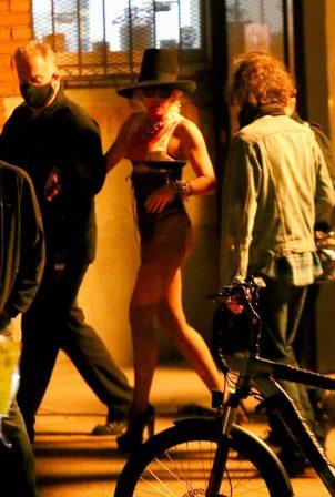 Miley Cyrus - Leaving her video shoot in Brooklyn