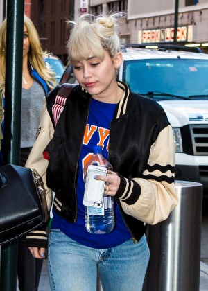 Miley Cyrus - leaving Madison Square Garden in NYC