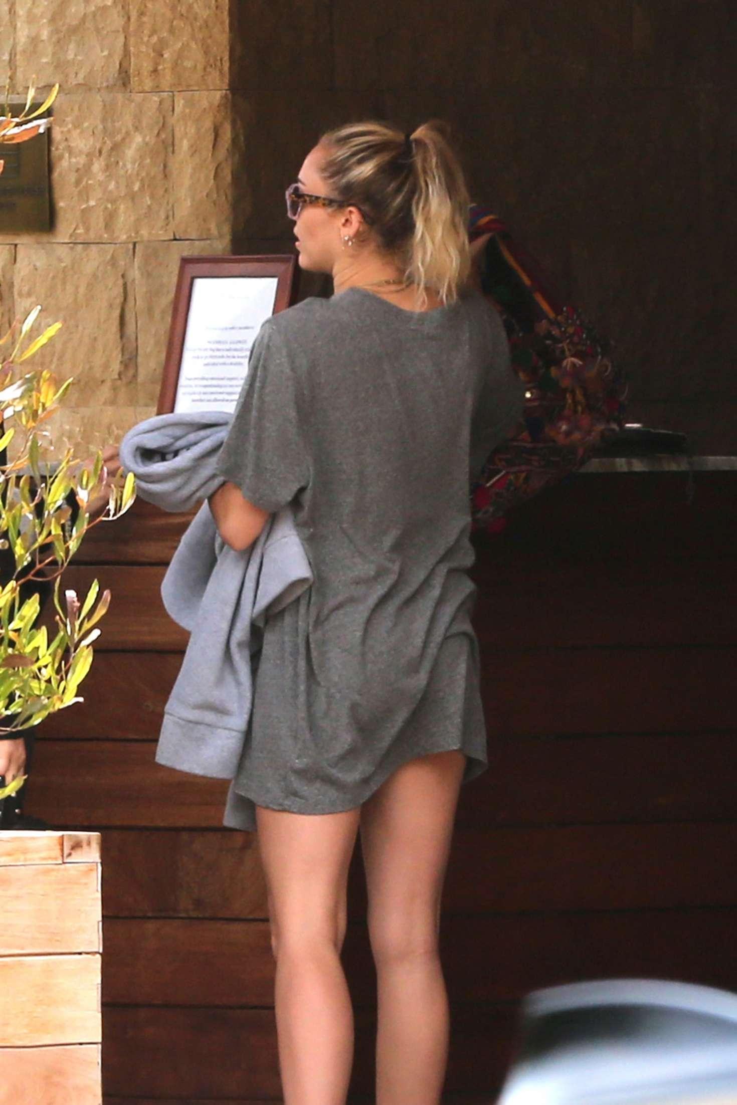 Miley Cyrus Leaving Soho House In La