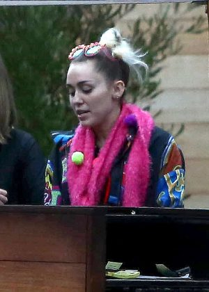 Miley Cyrus - Leaving Soho House in Malibu