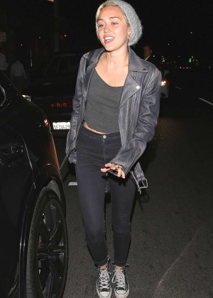 Miley Cyrus - Leaving The Improv Comedy Club in West Hollywood
