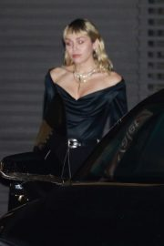 Miley Cyrus - Leaving the Nobu restaurant in Malibu