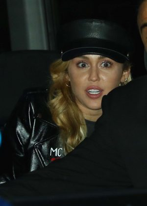 Miley Cyrus - Leaving the 'Stephen Colbert Show' in NYC