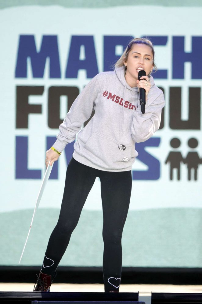 Miley Cyrus - 'March For Our Lives' in Washington