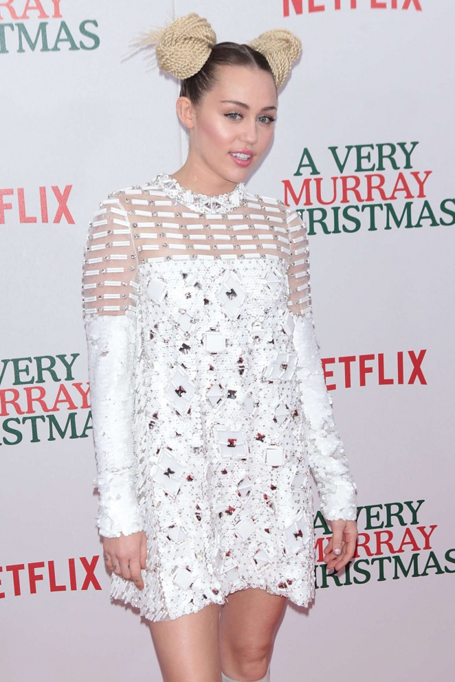 Miley Cyrus – Netflix Original Holiday Special 'A Very Murray Christmas' Screening in NYC