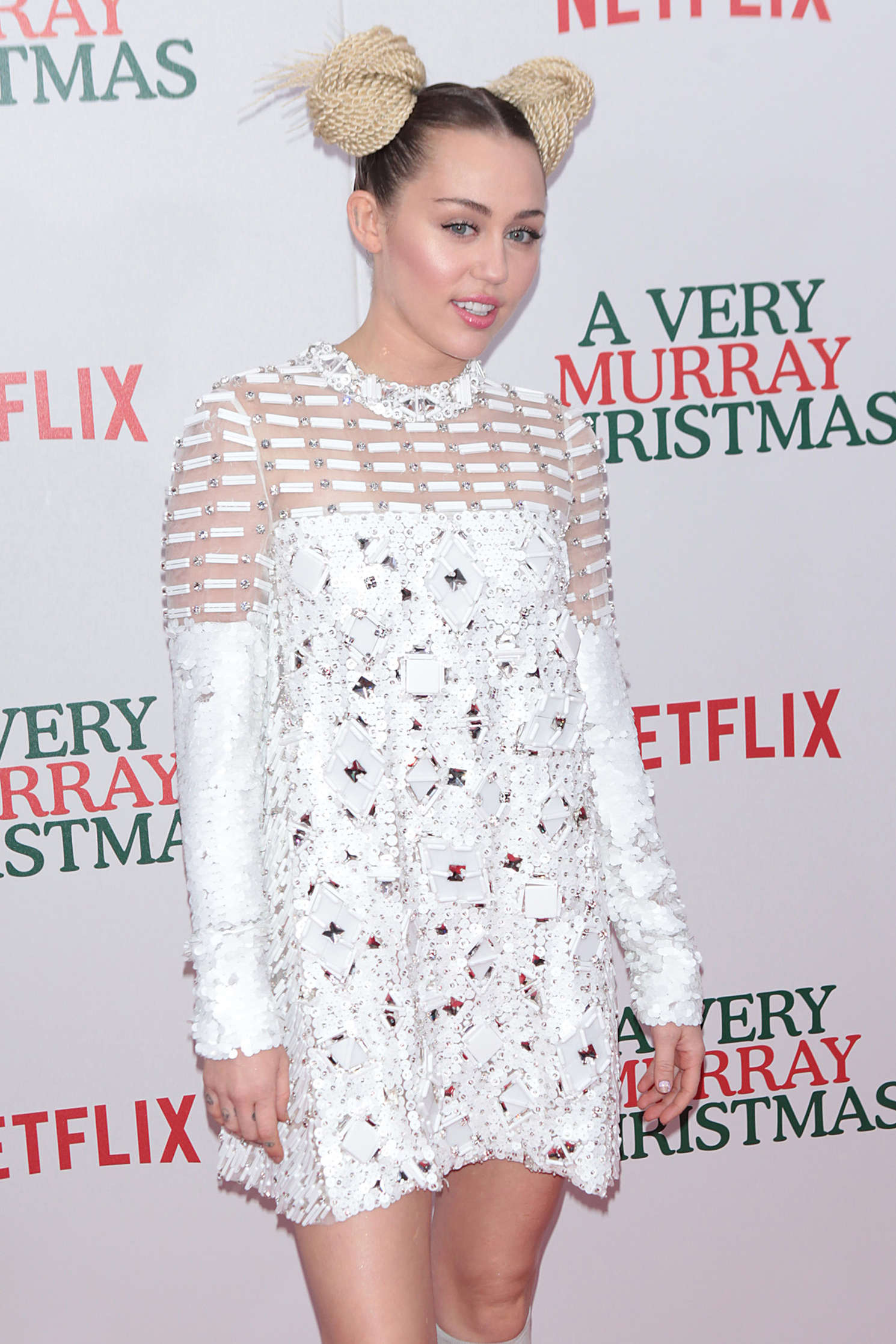 Miley Cyrus - 'A Very Murray Christmas' Screening in NYC