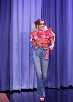 Miley Cyrus on 'The Tonight Show Starring Jimmy Fallon' in NY