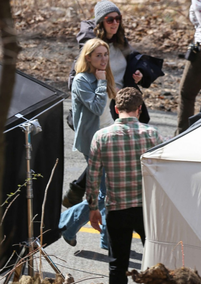 miley cyrus on woody allens new movie set 14 gotceleb