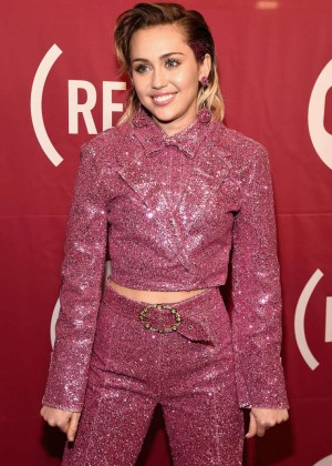 Miley Cyrus - ONE and (RED)'s 'It Always Seems Impossible Until It Is Done' 2015 Campaign in NY