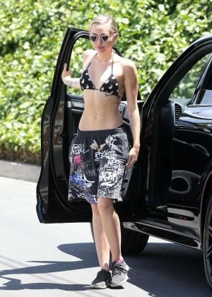 Miley Cyrus in Bikini Top -22