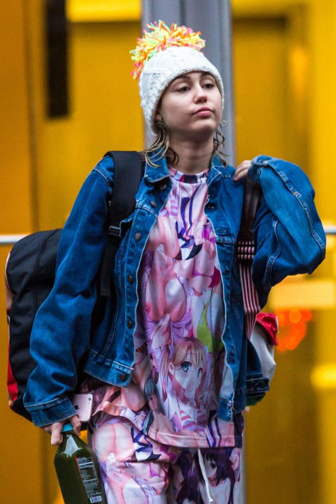 Miley Cyrus out and about in New York