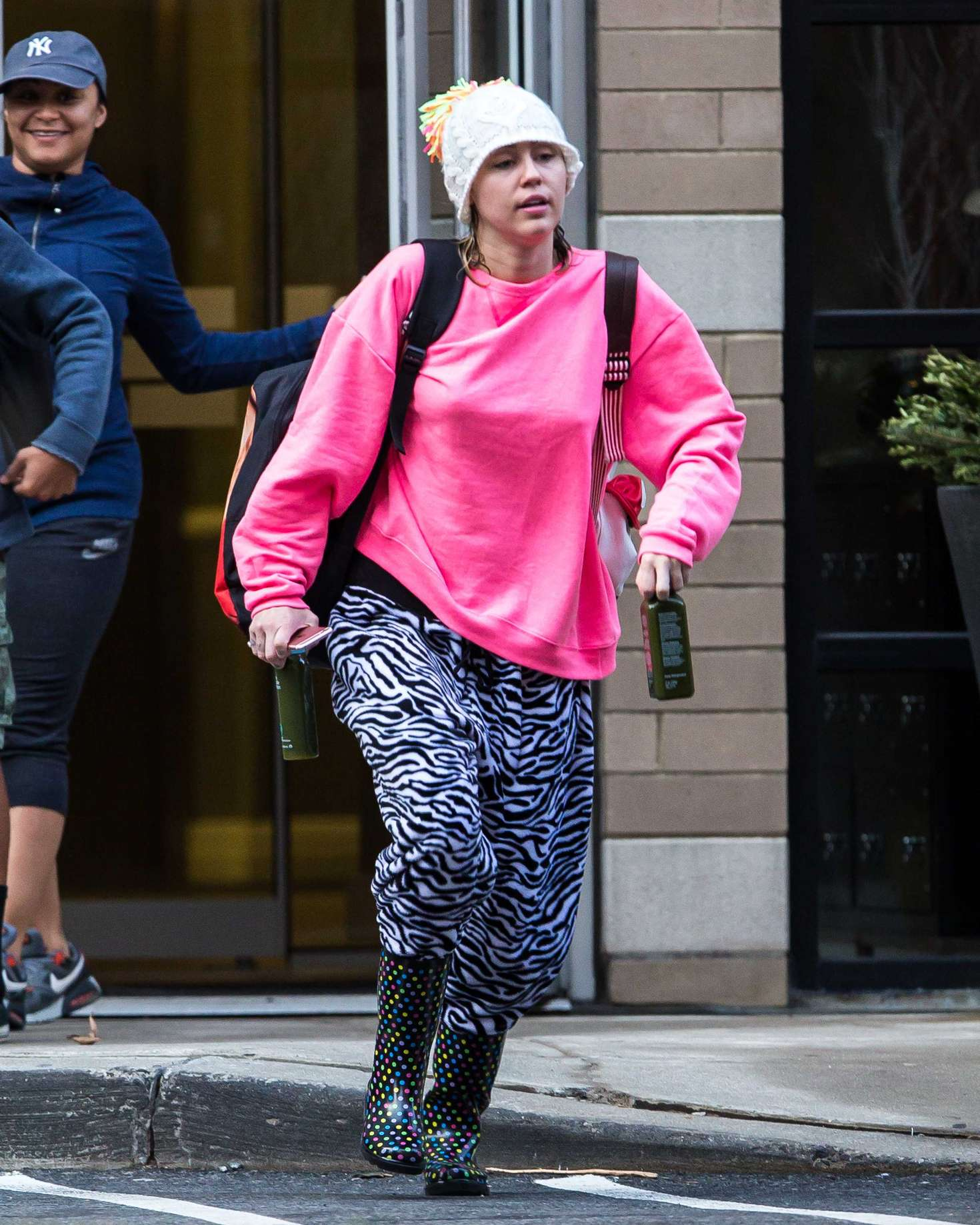 Miley Cyrus out and about in NY