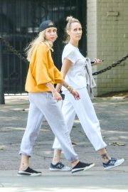 Miley Cyrus - Out for a walk with her mother Trish in Los Angeles