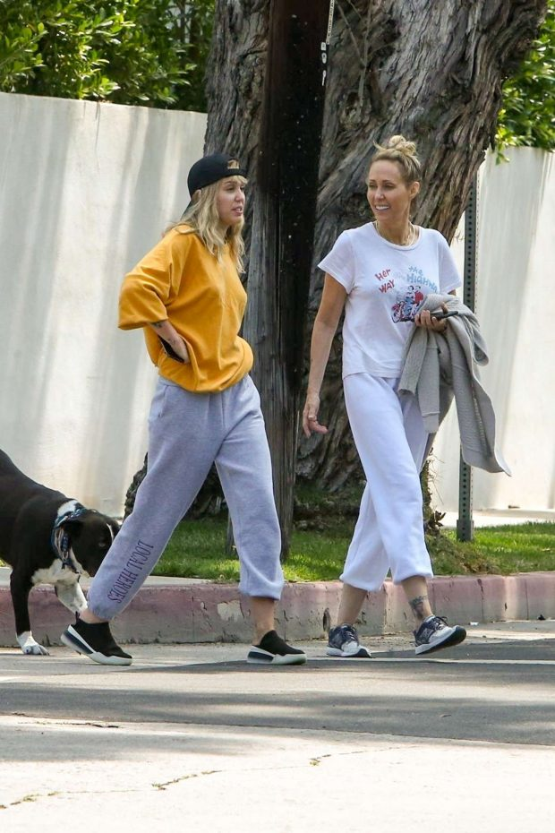 Miley Cyrus: Out for a walk with her mother Trish-17