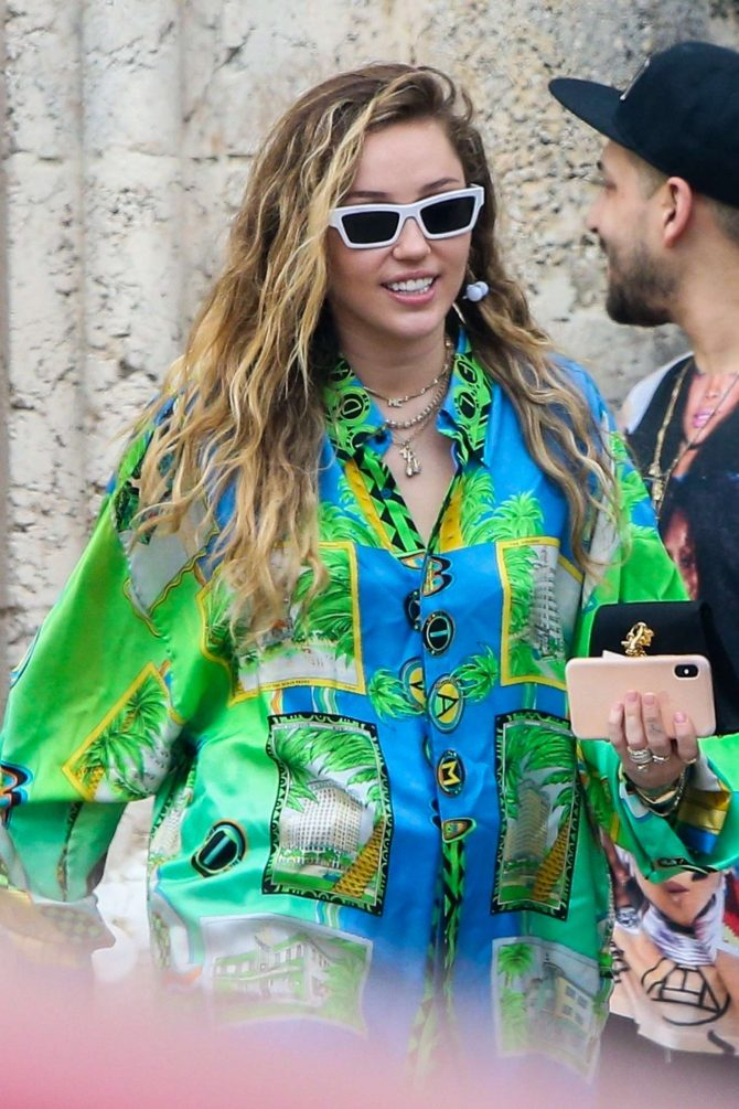 Miley Cyrus: Out in Miami Beach -12