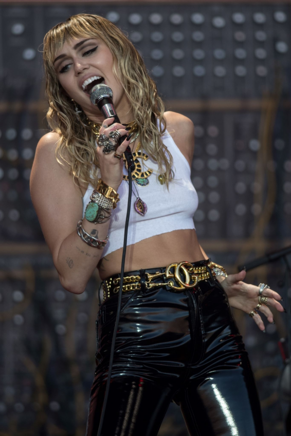 Miley Cyrus - Performing on the Pyramid Stage at Glastonbury Festival in Somerset