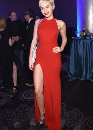 Miley Cyrus - Pre-GRAMMY Gala and Salute To Industry Icons in Los Angeles