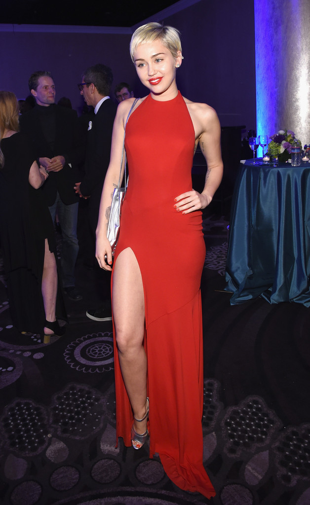 Miley Cyrus – Pre-GRAMMY Gala and Salute To Industry Icons in Los Angeles