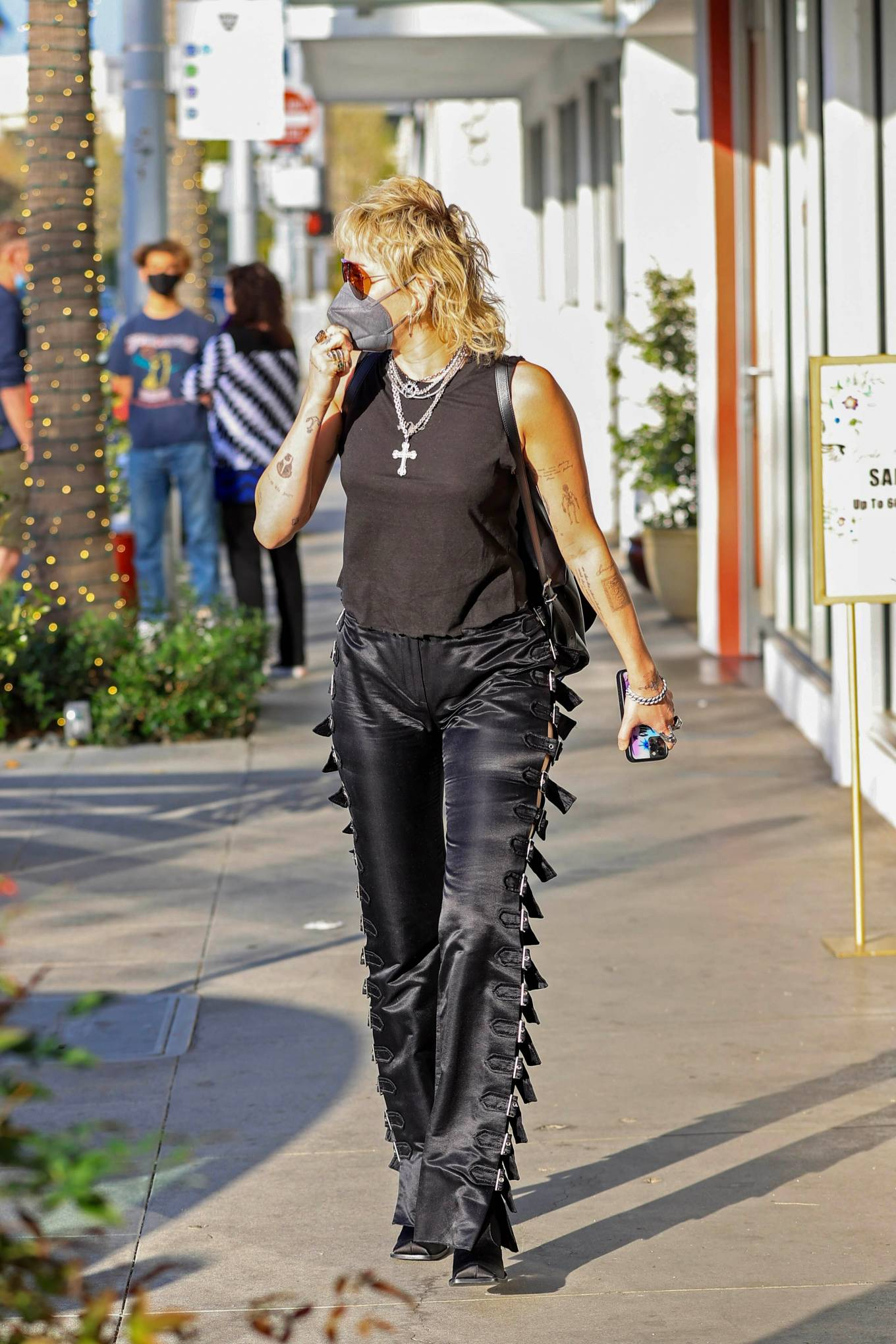 Miley Cyrus 2021 : Miley Cyrus – Seen while out in Beverly Hills-06