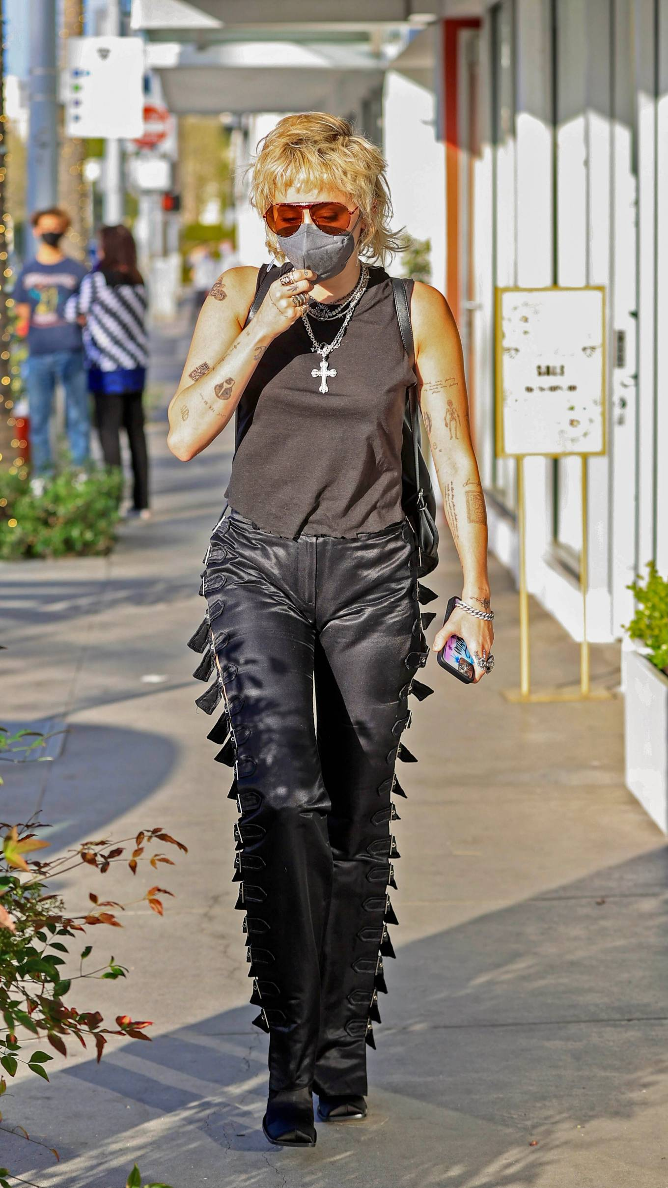 Miley Cyrus - Seen while out in Beverly Hills