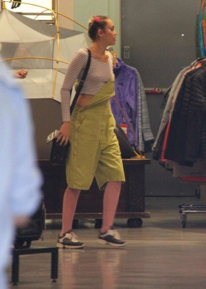 Miley Cyrus - Shopping at North Face in Beverly Hills