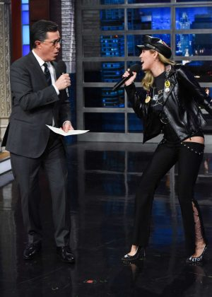 Miley Cyrus - 'The Late Show with Stephen Colbert' in NY