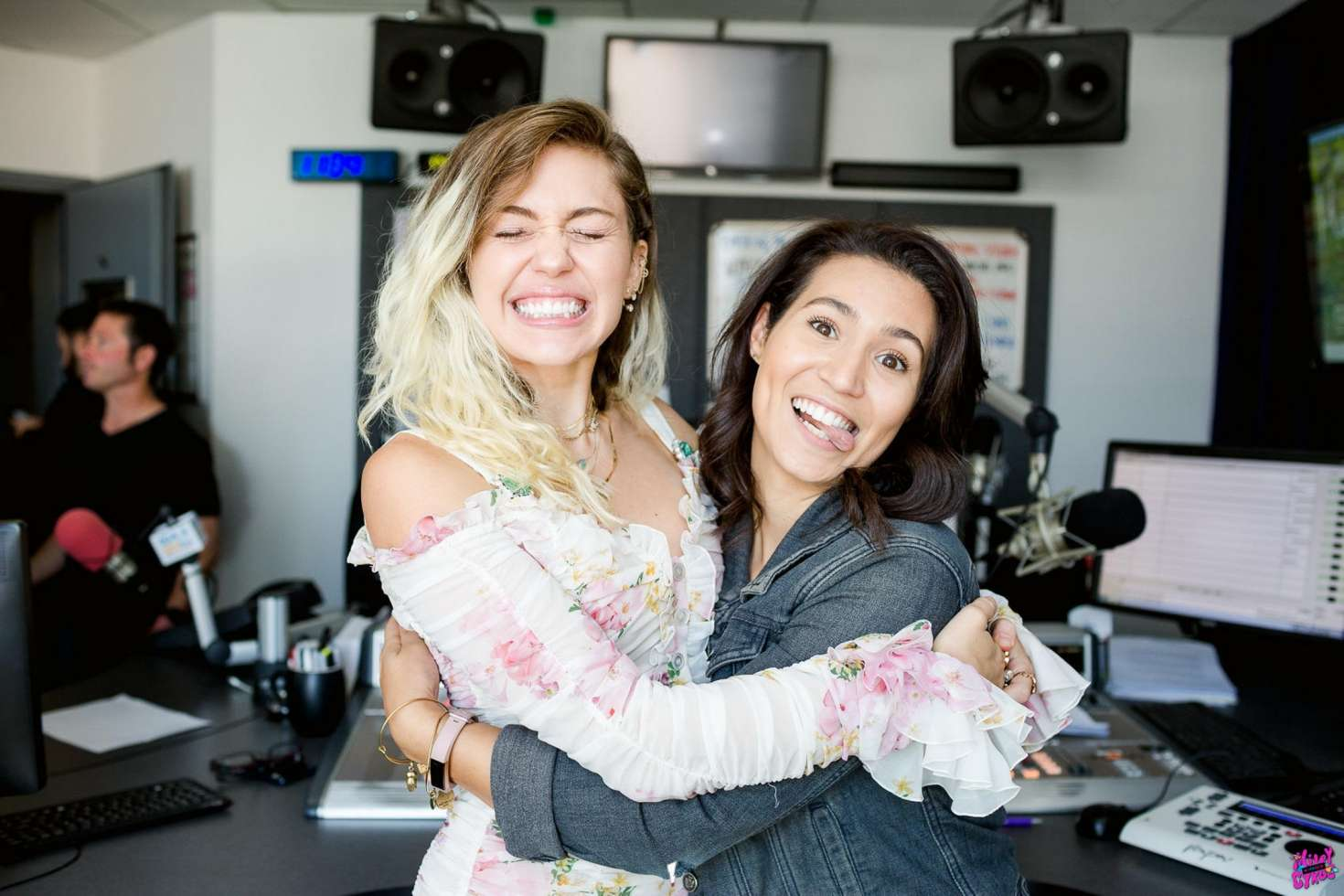 Miley Cyrus - Visiting 104.3 MYfm studios in Los Angeles