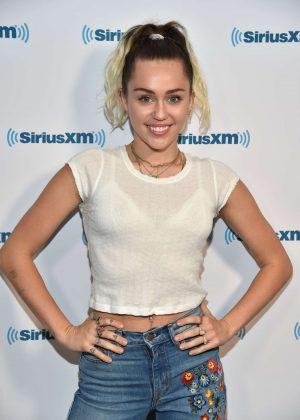 Miley Cyrus Visits SiriusXM Studios in Los Angeles