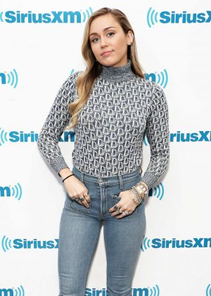 Miley Cyrus - Visits the SiriusXM Studios in New York City