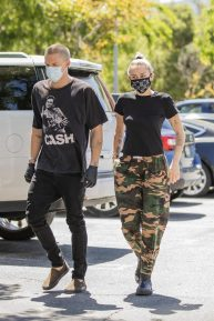 Miley Cyrus with Cody Simpson - Spotted at 10 Speed Coffee in Woodland Hills