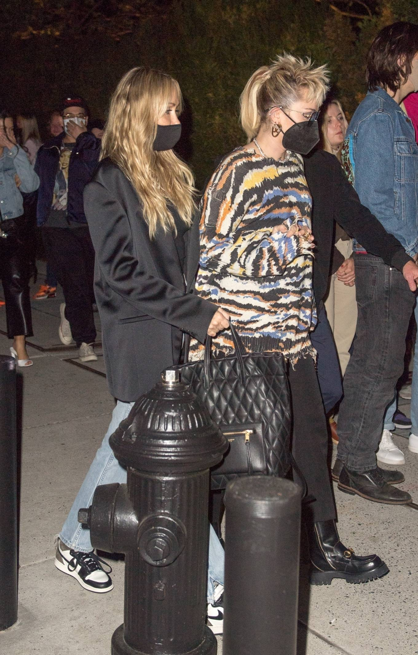 Miley Cyrus 2021 : Miley Cyrus – With her mom Tish get Mothers Day started at SNL after party in New York-03