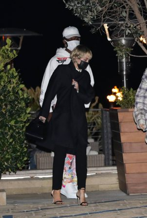 Miley Cyrus - With Lil Nas X grab dinner together at Nobu Malibu in Malibu