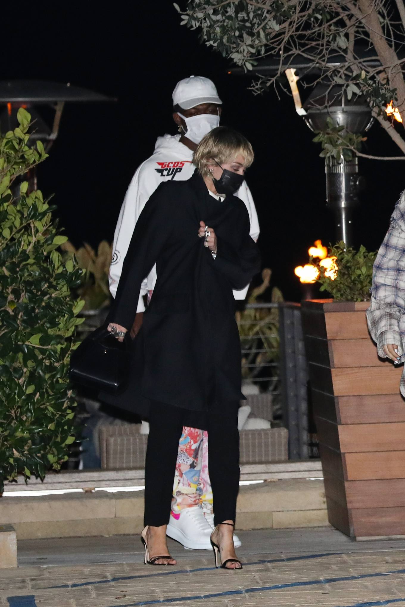 Miley Cyrus - With Lil Nas X grab dinner together at Nobu Malibu in Malibu