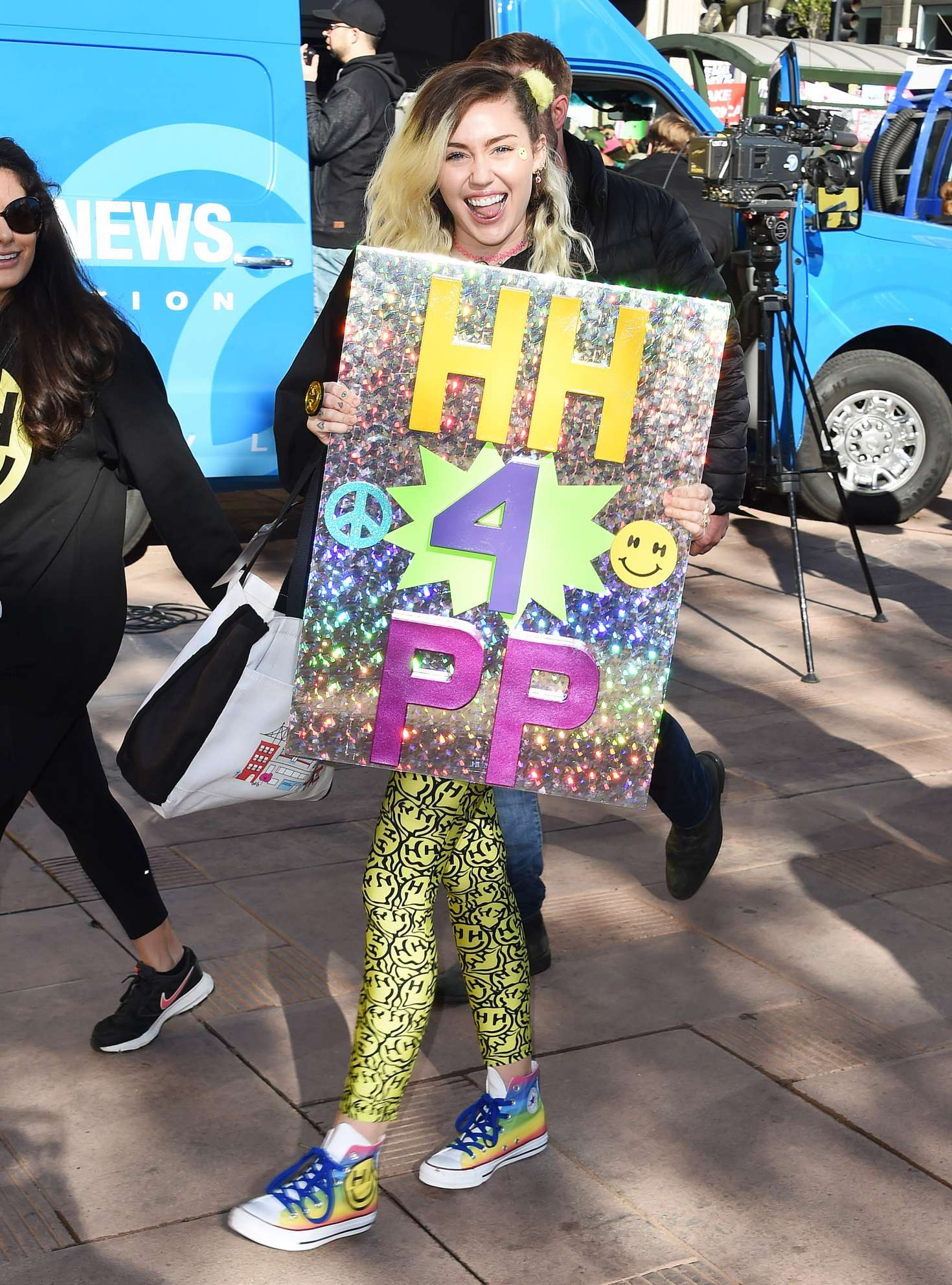 Miley-Cyrus:-Womens-March-on-Los-Angeles
