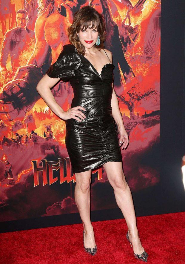 Milla Jovovich: Hellboy Premeire in New York -04