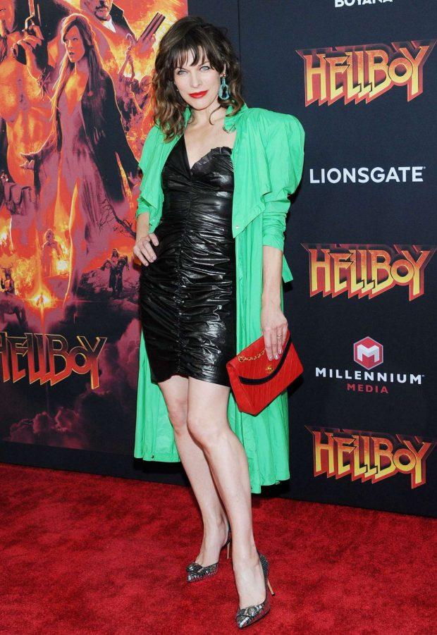 Milla Jovovich: Hellboy Premeire in New York -06