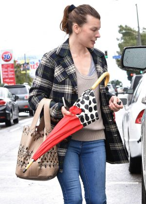 Milla Jovovich - Out and about in Los Angeles