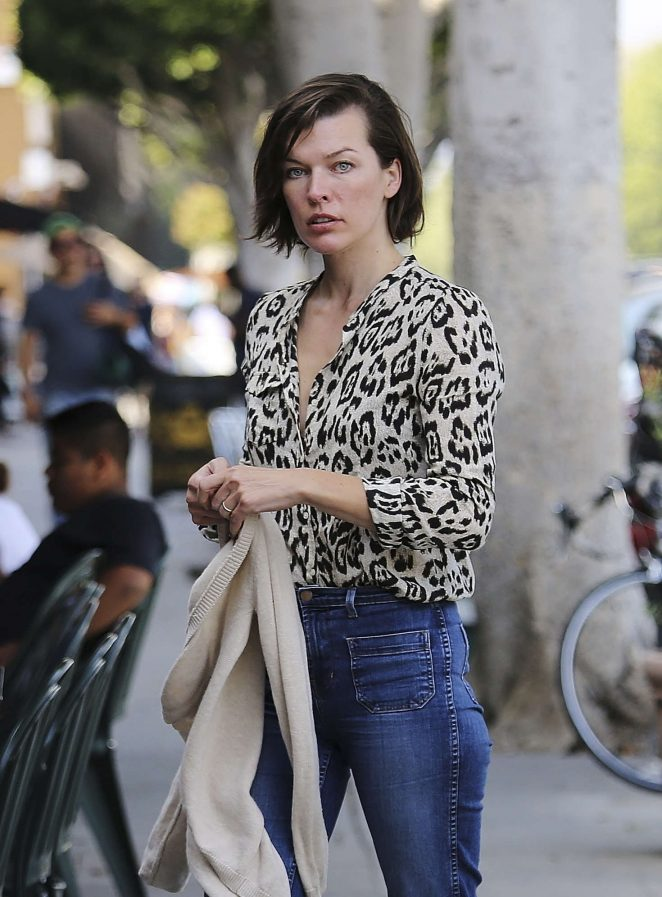 Milla Jovovich out in Los Angeles