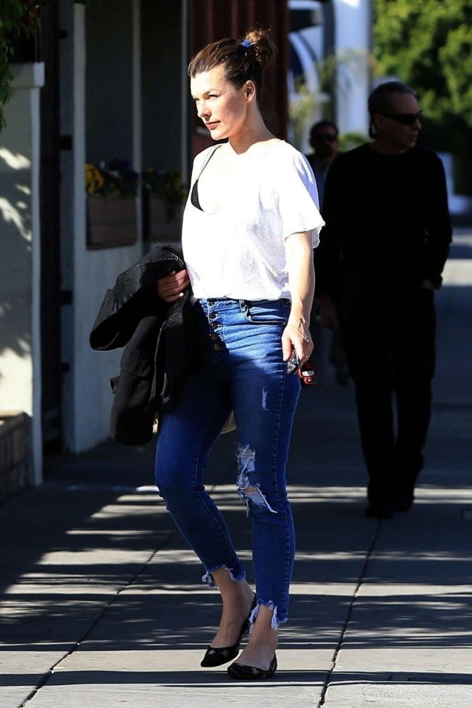 Milla Jovovich out to lunch at Matsuhisa in Beverly Hills