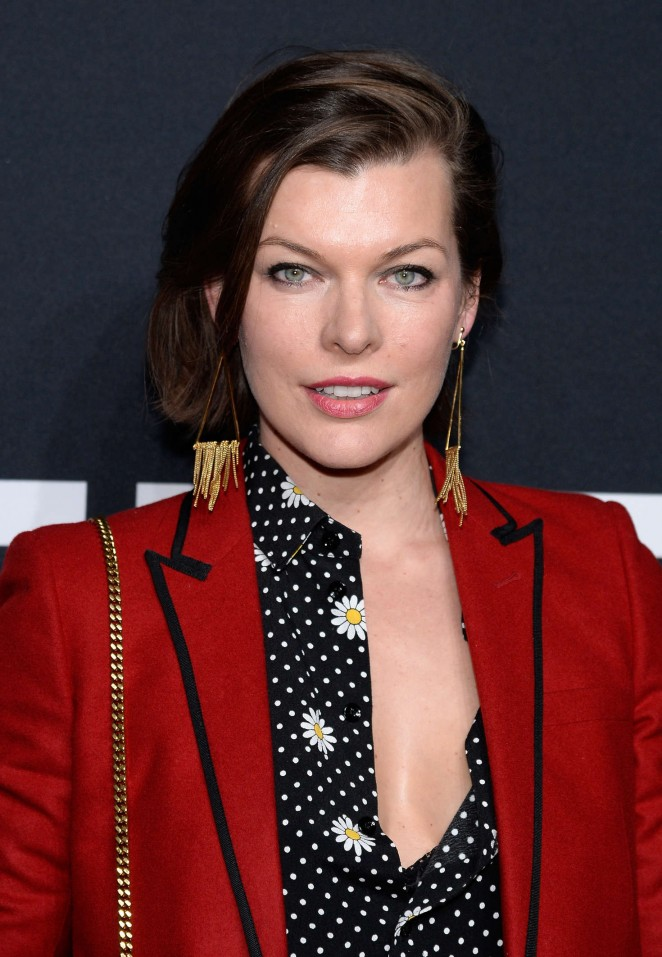 Milla Jovovich – Saint Laurent Show in Los Angeles