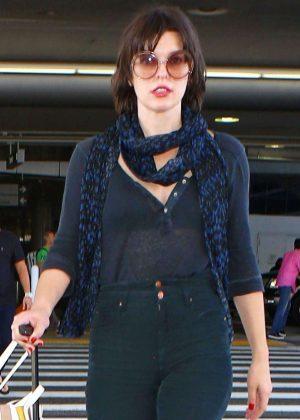 Milla Jovovich - Seen in Los Angeles