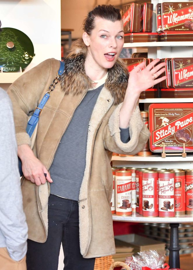 Milla Jovovich - Shopping at the Prada store in Beverly Hills