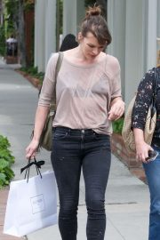 Milla Jovovich - Shops at Isabel Marant on Melrose Place in West Hollywood