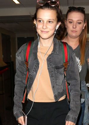 Millie Bobby Brown - Arrives at LAX airport in Los Angeles