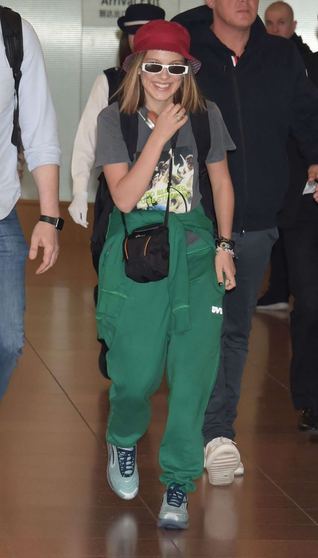 Millie Bobby Brown - Arriving at Haneda Airport in Tokyo