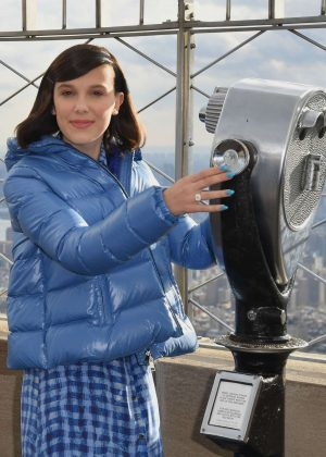 Millie Bobby Brown at Empire State Building in honor of UNICEF and World Children's Day in NY